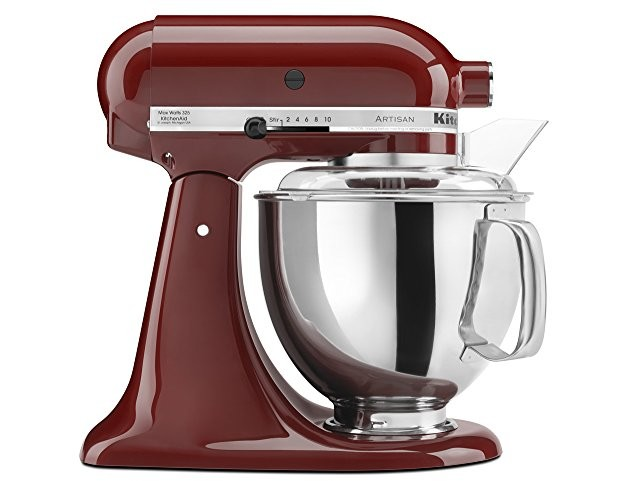 KitchenAid KSM150PSGC Artisan Series 5-Qt. Stand Mixer with Pouring Shield - Gloss Cinnamon $246.38 (reg. $299.00)