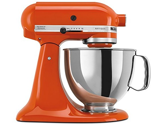 KitchenAid KSM150PSPN Artisan Series 5-Qt. Stand Mixer with Pouring Shield - Persimmon $246.38 (reg. $259.99)