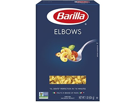 Barilla Pasta, Elbows, 16 Ounce (Pack of 8) $8.00 (reg. $11.12)