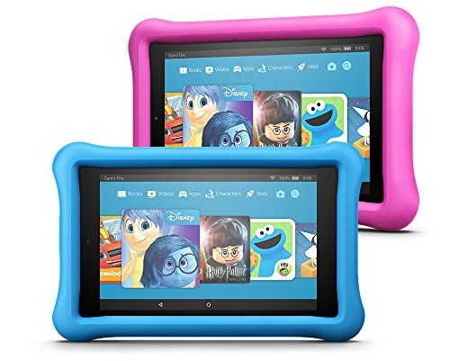 Fire 7 Kids Edition Tablet Variety Pack, 16GB (Blue/Pink) Kid-Proof Case $199.98
