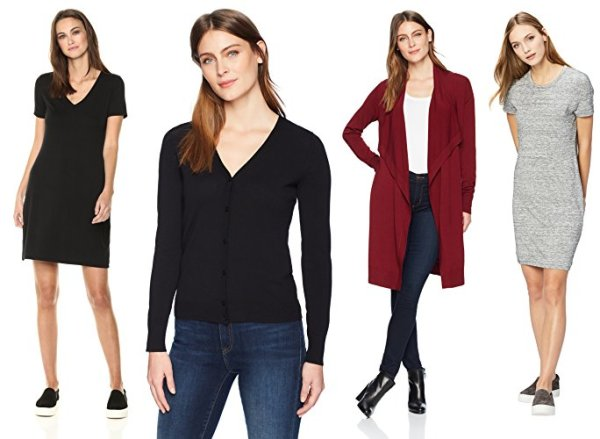 Daily Ritual Women's Jersey Short-Sleeve V-Neck T-Shirt Dress, Black, M
