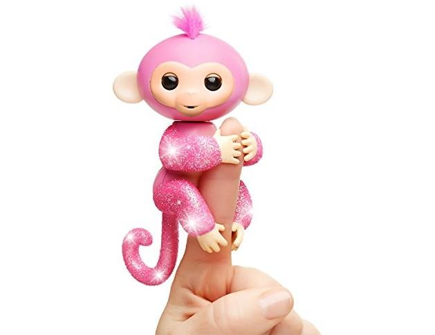WowWee Fingerlings Glitter Monkey - Rose (Pink Glitter) - Interactive Baby Pet $14.69 (reg. $17.99)