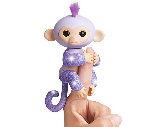 WowWee Fingerlings Glitter Monkey - Kiki (Purple Glitter) - Interactive Baby Pet $11.42 (reg. $17.99)