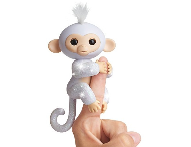 WowWee Fingerlings Glitter Monkey - Sugar (White Glitter) - Interactive Baby Pet $14.79 (reg. $17.99)