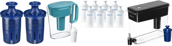 Brita Longlast Water Filter, Longlast Replacement Filters for Pitcher and Dispensers, Reduces Lead, BPA Free – 2 Count