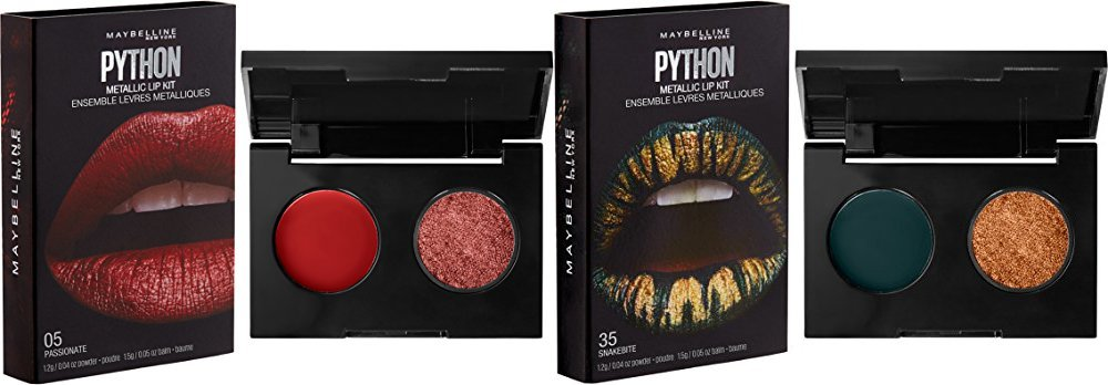 Maybelline New York Lip Studio Python Metallic Lip Makeup Kit, Passionate, 0.09 oz.