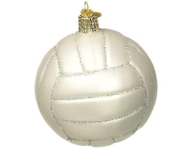 Old World Christmas Ornaments: Volleyball Glass Blown Ornaments for Christmas Tree