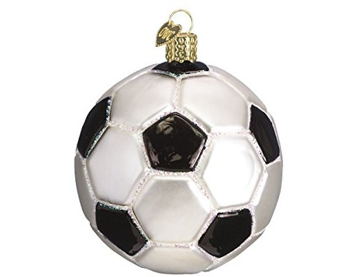Old World Christmas Ornaments: Soccer Ball Glass Blown Ornaments for Christmas Tree