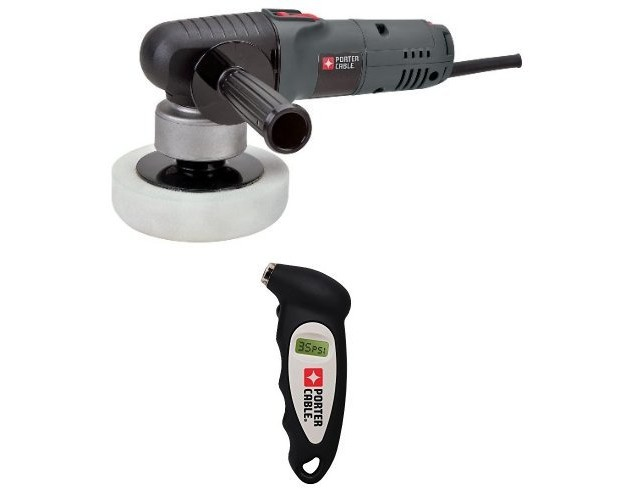 PORTER-CABLE 6-Inch Variable-Speed Polisher with Pressure Gauge