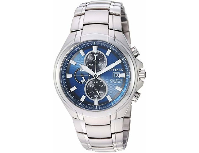 Citizen Men's 'Eco-Drive' Quartz Titanium Casual Watch, Color:Silver-Toned (Model: CA0700-51L)