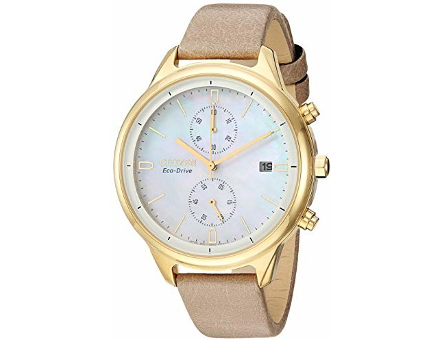 Citizen Women's 'Chandler' Quartz Stainless Steel Watch, Color:Beige (Model: FB2002-08D)