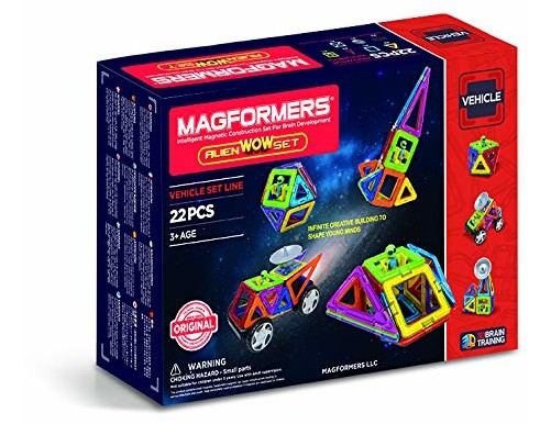 Magformers Space Wow Alien (22 Piece) Magnetic    Building      Blocks, Educational  Magnetic    Tiles Kit , Magnetic    Construction  STEM spaceToy Set