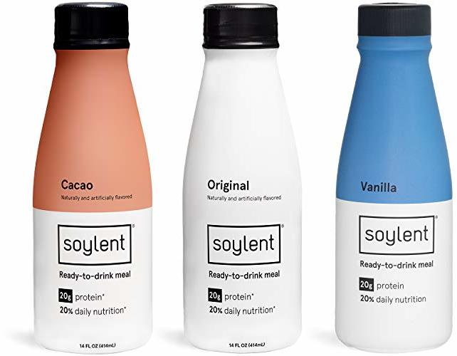 Soylent Meal Replacement Shake, Cacao, 14 oz Bottles, 12 Pack (Packaging May Vary)