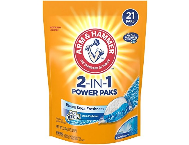 Arm & Hammer 2-IN-1 Laundry Detergent Power Paks, 21 ct