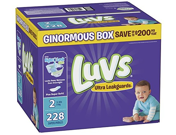 Luvs Ultra Leakguards Disposable Baby Diapers, Size 2, 228 Count, ONE MONTH SUPPLY