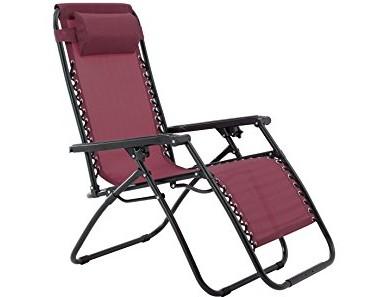 Zero Gravity Chair-Burgundy