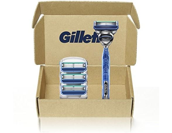 Gillette5 Men's Razor Handle + 4 Blade Refills