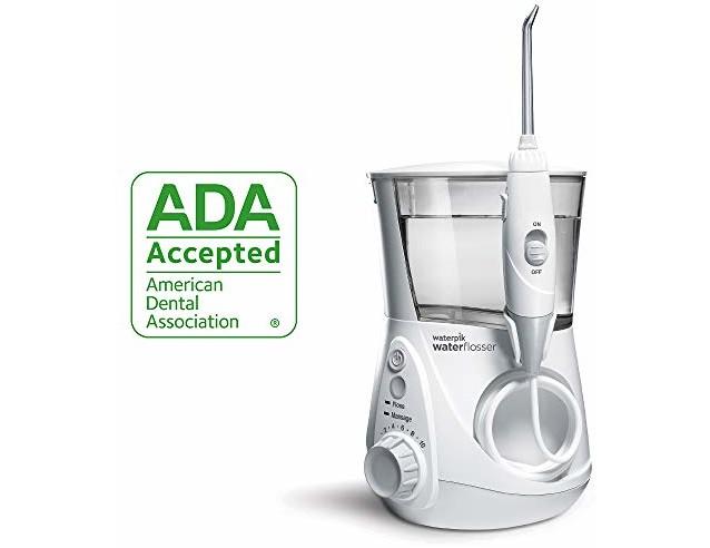 Waterpik Water Flosser Electric Dental Countertop Oral Irrigator For Teeth - Aquarius Professional, WP-660 White