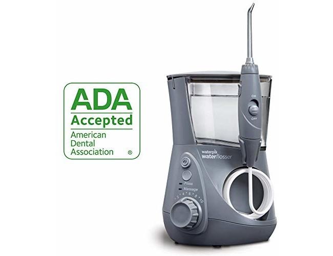Waterpik Water Flosser Electric Dental Countertop Oral Irrigator For Teeth - Aquarius Professional, WP-667 Modern Gray