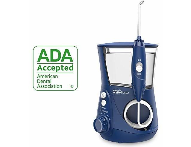 Waterpik Water Flosser Electric Dental Countertop Oral Irrigator For Teeth - Aquarius Professional, WP-663 Blue