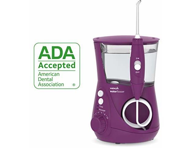 Waterpik Water Flosser Electric Dental Countertop Oral Irrigator For Teeth - Aquarius Professional, WP-665 Orchid