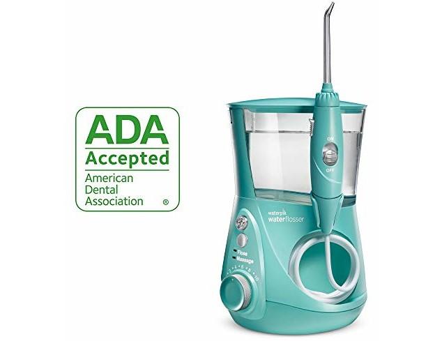 Waterpik Water Flosser Electric Dental Countertop Oral Irrigator For Teeth - Aquarius Designer, WP-676 Teal