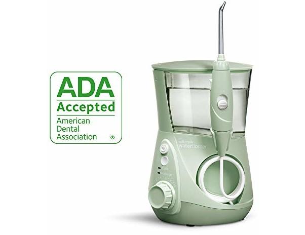Waterpik Water Flosser Electric Dental Countertop Oral Irrigator for Teeth - Aquarius Professional, WP-668 Mint Green