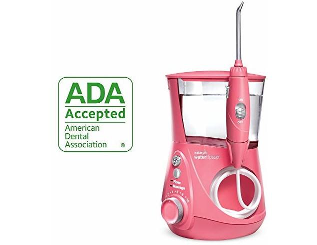 Waterpik Water Flosser Electric Dental Countertop Oral Irrigator For Teeth - Aquarius Designer, WP-674 Pink