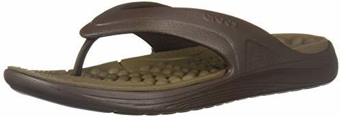 Crocs Reviva Flip Flop, Espresso/Walnut