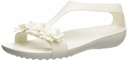 Crocs Women's Serena Embellish Sandal Flat Oyster