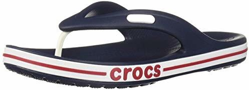 Crocs Men's and Women's Bayaband Flip Flop, Navy/Pepper