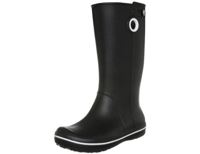 crocs Women's Crocband Jaunt Rain Boot, Black