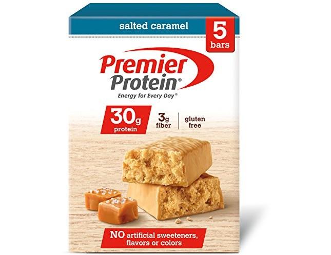 Premier Protein 30g Protein Bar, Salted Caramel, 2.53 oz Bar, (5 Count)