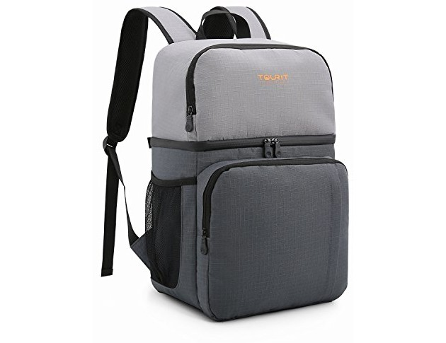 TOURIT Insulated Cooler Backpack Double Deck Light Lunch Backpack with Cooler Compartment for Men Women to Work, Picnics, Hiking, Camping, Beach, Park or Day Trips