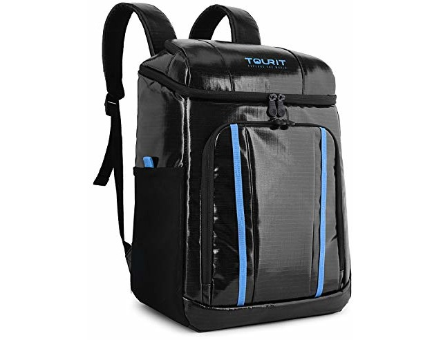TOURIT Cooler Backpack Waterproof TPU Backpack Cooler Insulated Leak-Proof Soft Cooler Bag for Men Women to Picnic, Hiking, Beach Trip, Theme Park, Black