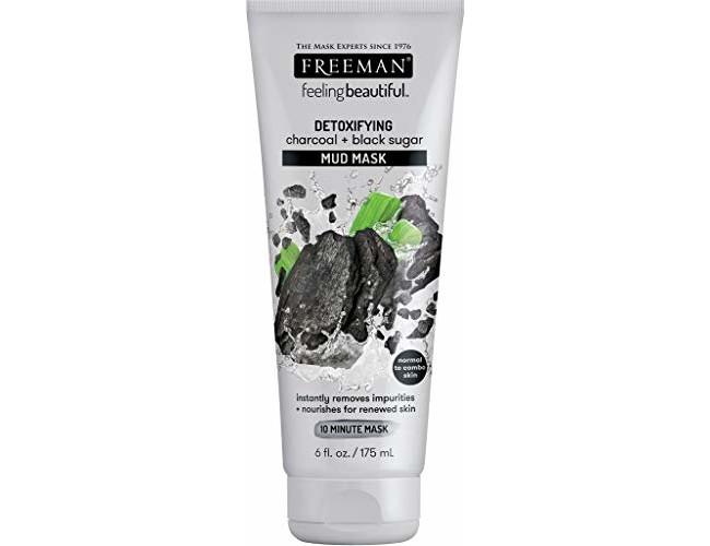 Freeman Charcoal & Black Sugar Mud Mask, 6 ounce