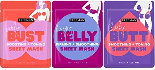 Freeman Body Mask Collection - 3 Pack - 1 Butt. 1 Belly. 1 Bust
