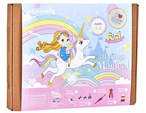 Unicorn Themed Art and Craft Kit for Girls | 6 Craft Projects-in-1 | Best Girl Gift for Ages 5 to 8 Years | Includes Beautiful Felt and Foam Embellishments