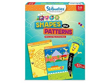 Skillmatics Educational Game: Shapes and Patterns (3-6 Years) | Creative Fun Activities for Kids