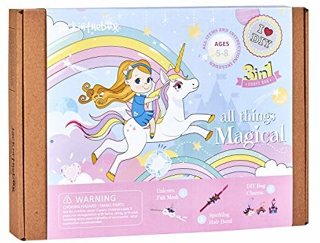 Unicorn Themed Art and Craft Kit for Girls | 3 Activities-in-1 | Best Girl Gift for Ages 5 to 8 Years | Includes Beautiful Felt and Foam Embellishments