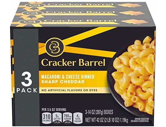 Cracker Barrel Sharp Cheddar Macaroni & Cheese (42 oz Boxes, Pack of 3)