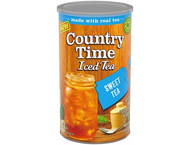 Country Time Sugar Sweteened Sweet Tea Powdered Drink Mix, Low Caffeine, 5 Lb Canister