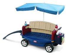 Little Tikes Deluxe Ride and Relax Wagon with Umbrella JungleDealsBlog.com