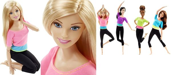 Amazon Exclusive Barbie Made to Move Barbie Doll Pink Top