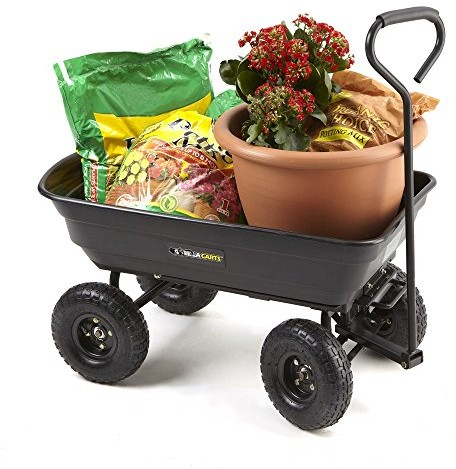 Right Now Amazon Is Offering The Lowest Price To Date On The Gorilla Carts  GOR200B Poly Garden Dump Cart With Steel Frame And 10 Inch Pneumatic Tires,  ...