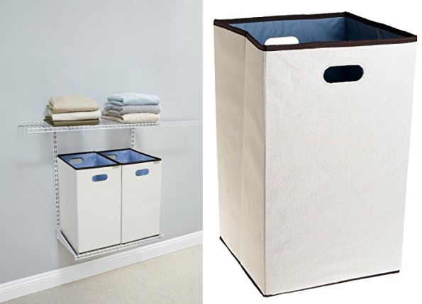 rubbermaid custom closet folding laundry hamper natural 23in best price jungle deals blog