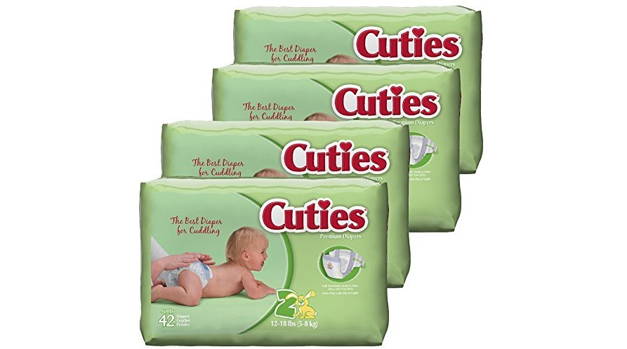 26 Count Cuties Toddler Training Pants for Girls Size 2T-3T Pack of 4