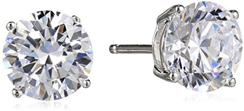 Just Dropped The Price On These Gorgeous Platinum Plated Sterling Silver Round Cut Cubic Zirconia Stud Earrings 4 Cttw To 15 00 Shipped
