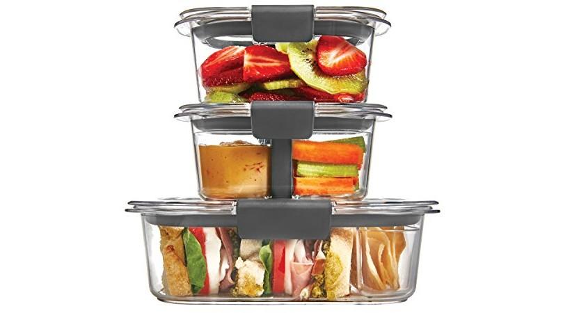 Rubbermaid Brilliance Food Storage Container 10 Piece Sandwich