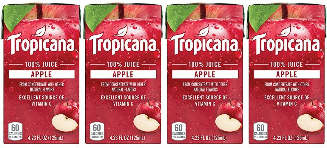 Image result for Tropicana 100% Juice Box, Apple Juice